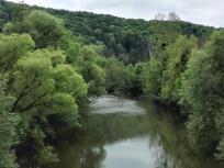 Blick von der Jagstbrücke bei Möckmühl
