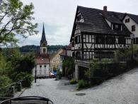 Blick vom Burgberg zum Marktplatz
