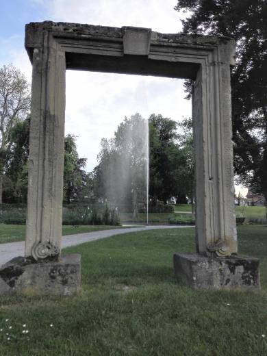 Wasserfontäne im Park