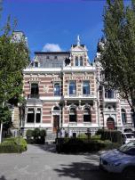 Prächtige Häuser am Westplein gegenüber dem alten Veerhaven