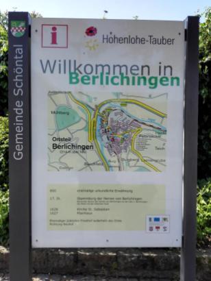 Infotafel in Berlichingen am Kirchplatz