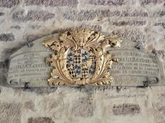 Wappen im Eingangsportal