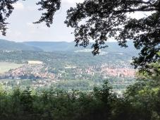 Blick aus dem Wald hinunter nach Bad Sooden-Allendorf