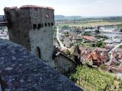 Blick hinunter von der Burg Hohenbeilstein auf Beilstein