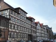 Fachwerkhäuser im Brückenviertel an der Werra