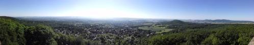 Panoramablick vom Bismarckturm