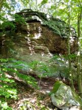 Aufschluss im Bundsandstein unterhalb der Teufelskanzel