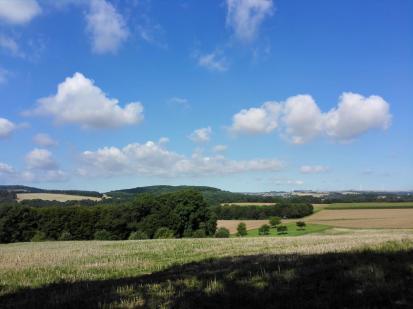 Blick über das Maifeld zwischen Mosel und Eifel