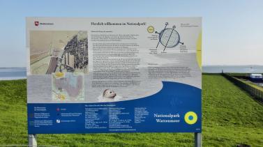 Infotafel zum Wattenmeer