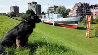 Hausboot des lokalen Marine-Veteranenvereins