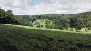 Verstreut liegen einzelne Höfe in den wasserreichen Tälern
