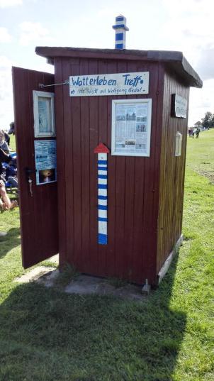 Die kleine Strandhütte von Wolfgang Gedat - Ausgangspunkt unserer Wattwanderung
