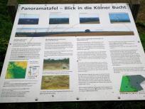 Infotafel am Aussichtspunkt in die Kölner Bucht