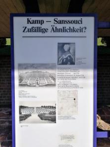 Infotafel zur Verwandschaft der Gartenanlagen von Kloster Kamp und des Schlosses Sanssouci