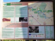 Infotafel an der Villa-Reichswald