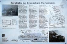 Infotafel zur Bahngeschichte in Marienbaum