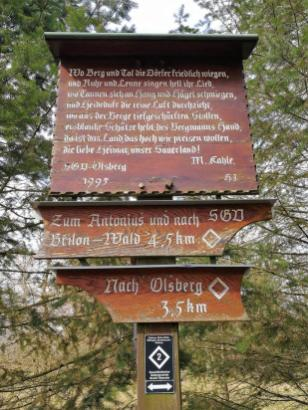 Tafel auf dem Borberg