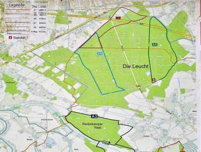 Umgebungskarte am Wanderparkplatz