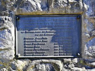 Gedenktafel für sieben durch Munitionsreste am Ende des Zweiten Weltkriegs getötete Jugendliche