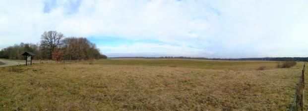 Heidefläche, auf der sich einstmals der Fliegerhorst befand