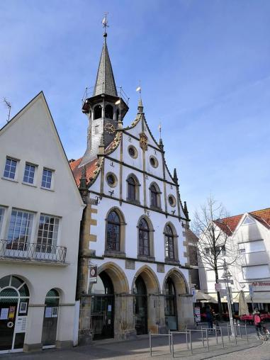 Das alte Rathaus von Burgsteinfort, Frontansicht