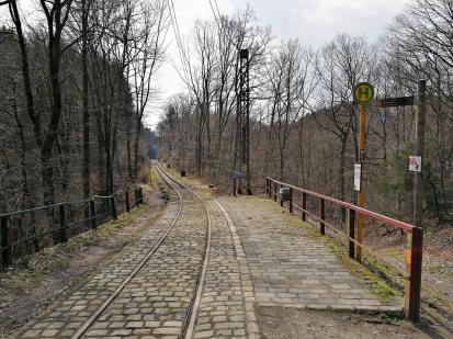 Alte Wuppertaler Straßenbahnstrecke im Kaltenbachtal
