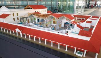 Modell der großen Römertherme