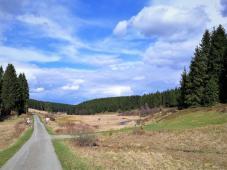 Zufahrt zum Truppenübungsplatz am Ende des Schwalmbachtals