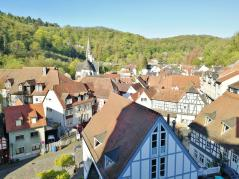 Blick von der Burg Eppstein in den Ort