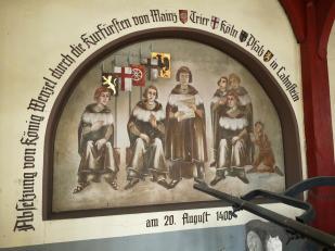 Wandmotiv in der Rathaus-Galerie