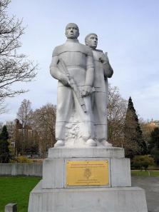 Ehrung für die Mitglieder der belgischen Resistance im Kampf gegen die Deutsche Besetzung