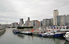 Blick auf den Yachthafen in der Maas