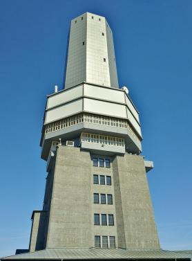 Der alte Fernseh-Sendeturm des Hessischen Rundfunks