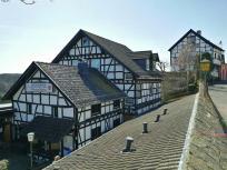 Die Burgschänke an der Wildenburg. Hie rmachen wir Rast.