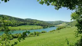 Blick auf den Westteil des Sees