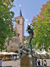 Der Brunnen am Wenigermarkt nahe der Krämerbrücke