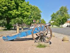 Kanone auf der Zitadelle Petersberg