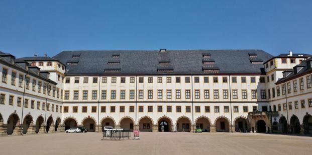 Im Innenhof von Schloss Friedenstein