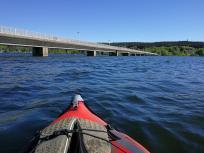 Die Seebrücke für Fußgänger und Radfahrer bei Körbecke
