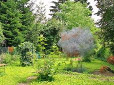 Kunst-Garten unweit unseres Stellplates in Unkel