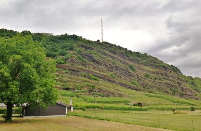 Am Rande von Unkel erhebt sich das Bruchhauser-Plateau Das wollen wir hinauf.