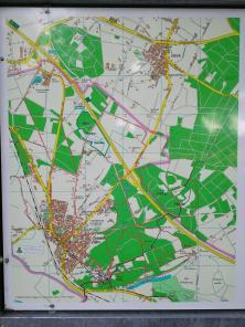 Karte des Waldgebits nordöstlich von Elten