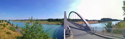 Panoramablick von der Kanal-Brücke am Klutendamm