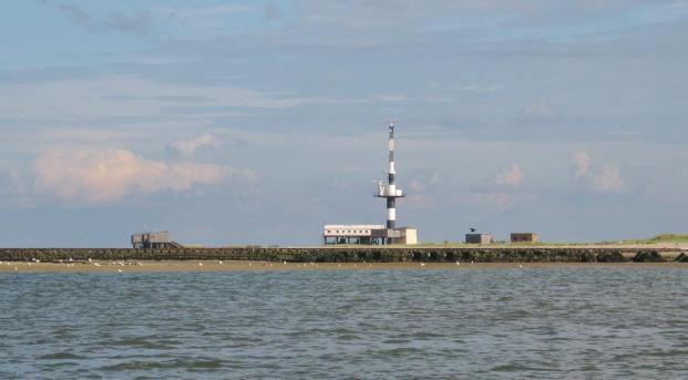 Radarturm und Vogelschutzwarte auf der Nordostseite des Minsener Oogs