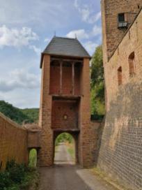 Blick auf das Zugangstor von Innen