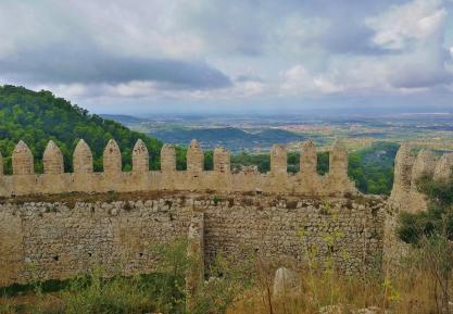Blick über die Festungsmauer Richtung Südwesten