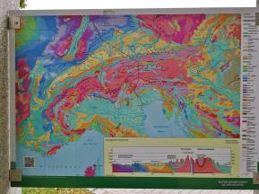 Fundstellen der verschiedenen Gesteinsarten im Alpenraum