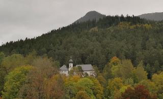 Die Wallfahrtskirche St. Anton unterhalb des Wank