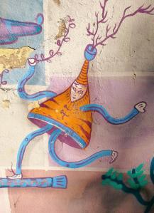 Hübsche Graffitis in den Staßenunterführungen an der Pegnitz