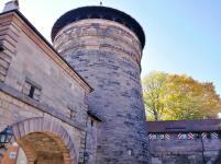 Der Neutorturm am Zugang zur Altstadt in der Nähe der Burg